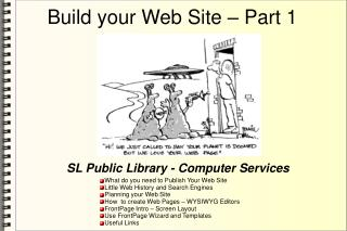 Build your Web Site – Part 1