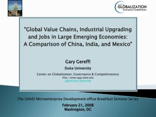 The USAID Microenterprise Development office Breakfast Seminar Series February 21, 2008
