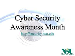 Cyber Security Awareness Month security.nsu
