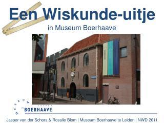 Jasper van der Schors & Rosalie Blom | Museum Boerhaave te Leiden | NWD 2011