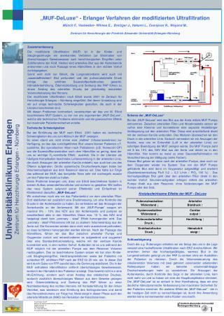 """MUF-DeLuxe"" - Erlanger Verfahren der modifizierten Ultrafiltration"