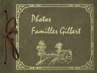 Photo des derniers propriétaires de la terre ancestrale Pierre Gilbert et Philomène Gagné
