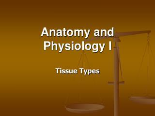 Anatomy and Physiology I