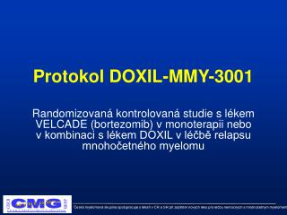 Protokol DOXIL-MMY-3001