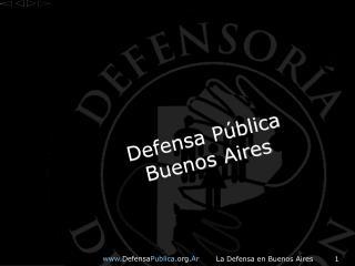 Defensa Pública Buenos Aires