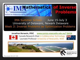 Mathematics   of Inverse Problems