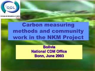 Carbon measuring methods and community work in the NKM Project