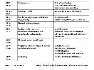 OBS! Ca 12.20-12.40    Anders Österlund informerar om influensasituationen