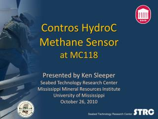 Contros  HydroC Methane Sensor at MC118