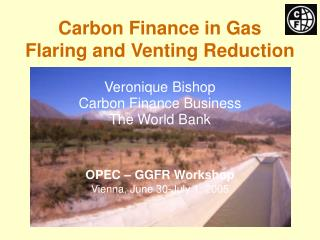 Carbon Finance in Gas  Flaring and Venting Reduction