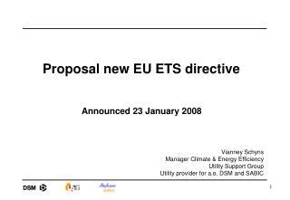 Proposal new EU ETS directive
