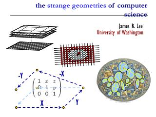 the  strange geometries  of computer science