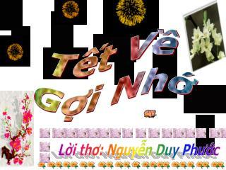 Lời thơ: Nguyễn Duy Phước