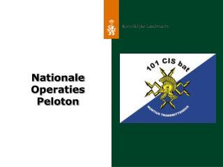 Nationale Operaties P eloton