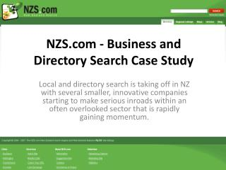 NZS - Business and Directory Search Case Study