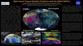 High-Impact Tropical Weather Prediction with the NASA  CAMVis :
