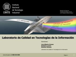 Laboratorio de Calidad en Tecnologías de la Información