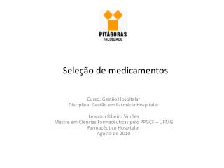 Seleção de medicamentos