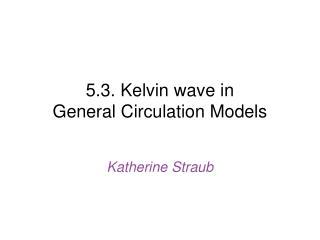 5.3. Kelvin wave in  General Circulation Models