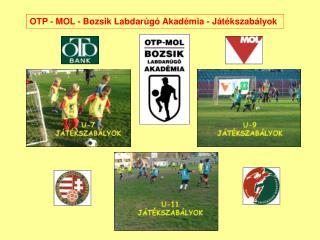 OTP - MOL - Bozsik Labdarúgó Akadémia - Játékszabályok