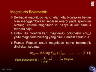 Magnitudo Bolometrik