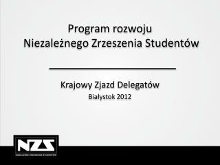 Program rozwoju  Niezależnego Zrzeszenia Studentów