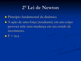 2° Lei de Newton
