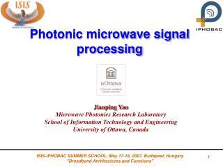 Photonic microwave signal processing