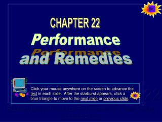 Performance and Remedies