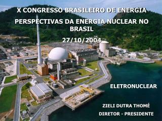 X CONGRESSO BRASILEIRO DE ENERGIA PERSPECTIVAS DA ENERGIA NUCLEAR NO BRASIL 27/10/2004