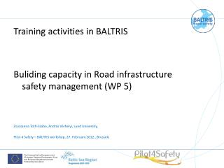 Training activities in BALTRIS Buliding capacity in Road infrastructure safety management (WP 5)