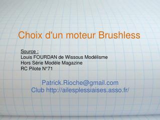 Choix d'un moteur Brushless