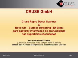 Histórico   Cruse GmbH