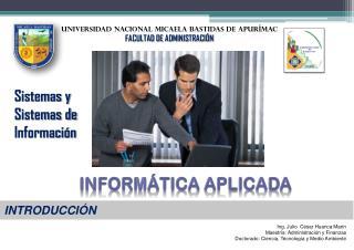 UNIVERSIDAD NACIONAL  Micaela bastidas de Apurímac FACULTAD DE  ADMINISTRACIÓN