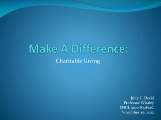 Make A Difference: