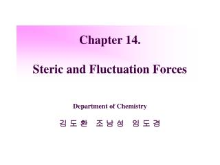 Chapter 14.   Steric and Fluctuation Forces
