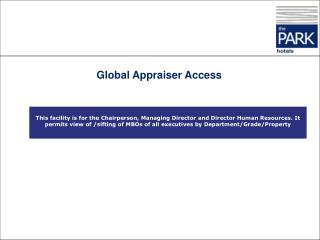 Global Appraiser Access