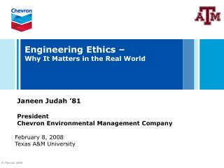 Engineering Ethics –  Why It Matters in the Real World