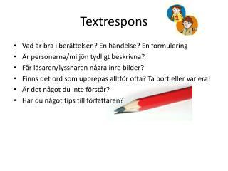 Textrespons
