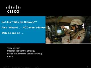 "Not Just ""Why the Network?"" Also ""Where? …  NCO must address  Web 2.0 and on . . ."