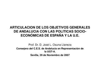 Prof. Dr. D. José L. Osuna Llaneza