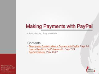Making Payments with PayPal