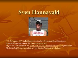 Sven Hannavald