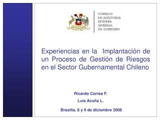 Brasilia, 8 y 9 de diciembre 2008