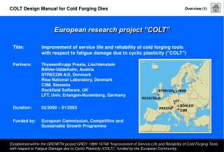 "European research project ""COLT"""