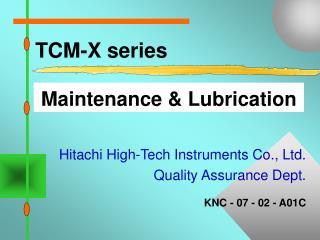 TCM-X series