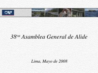 38 va  Asamblea General de Alide