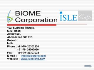 402, Supreme Towers, S. M. Road, Ambawadi, Ahmedabad 380 015. Gujarat. India.