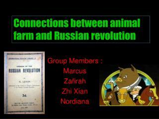 Group Members : Marcus Zafirah Zhi Xian Nordiana