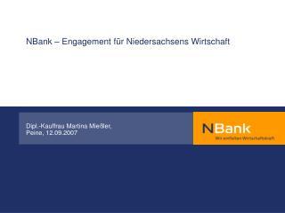 NBank – Engagement für Niedersachsens Wirtschaft